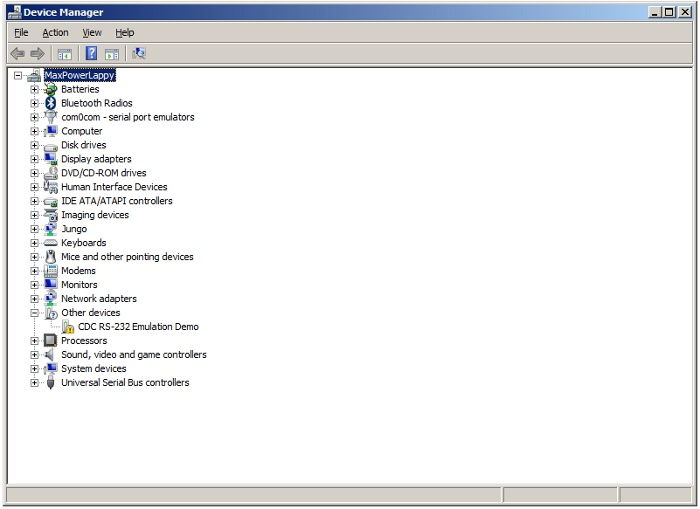 CDC RS232_Emulator_Device_Manager_Screenshot