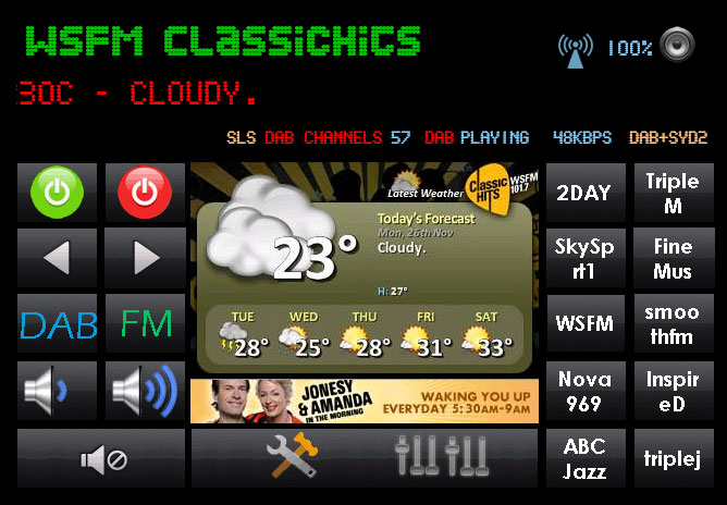 DAB Radio SlideShow weather